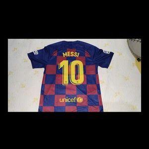 Lionel Messi #10 FC Barcelona Soccer Home Jersey